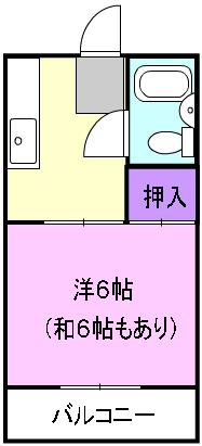 富田ハイツ 307号室の間取り
