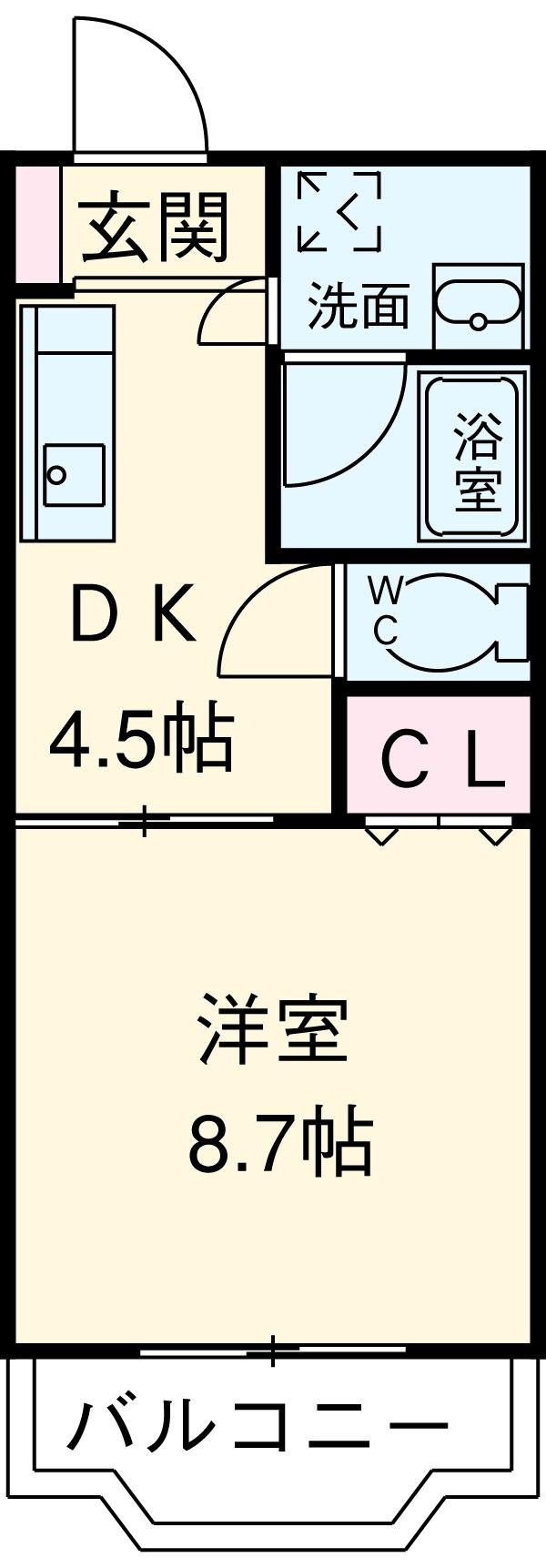 クレアールⅡ 205号室の間取り