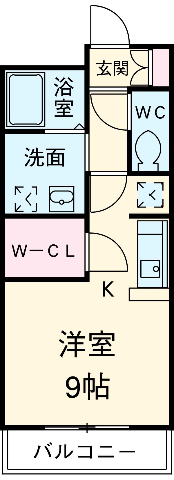 ブロードタウン神野Ⅱ D・207号室の間取り