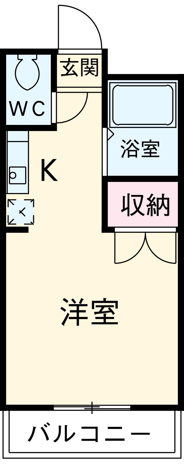 サンハイツOKADA・206号室の間取り