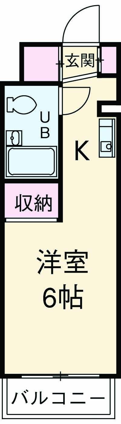 ONE's RESIDENCE立川錦町・106号室の間取り