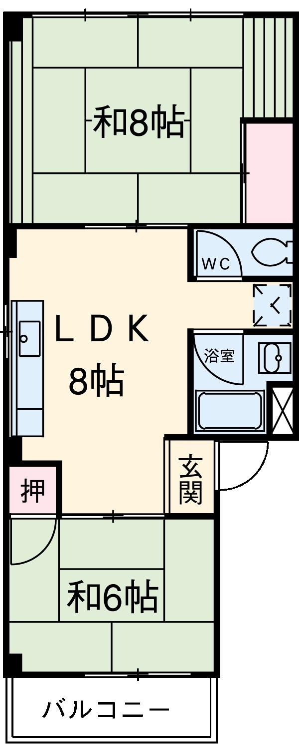 三共ビル 302号室の間取り
