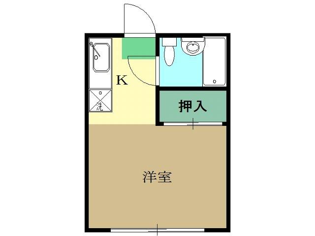 ハウス818B棟・201号室の間取り