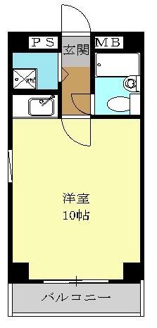 徳川マンション・902号室の間取り