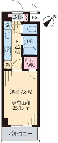 Monte Verde Tokiwada 504号室の間取り