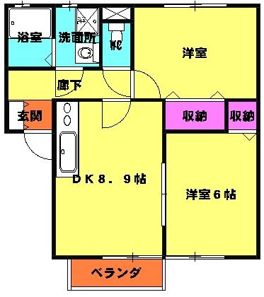 SAKURA Garden A・103号室の間取り