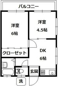 ハイツシムラ・203号室の間取り