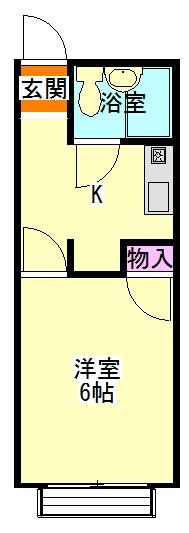 ドリームハウス下小出・109号室の間取り