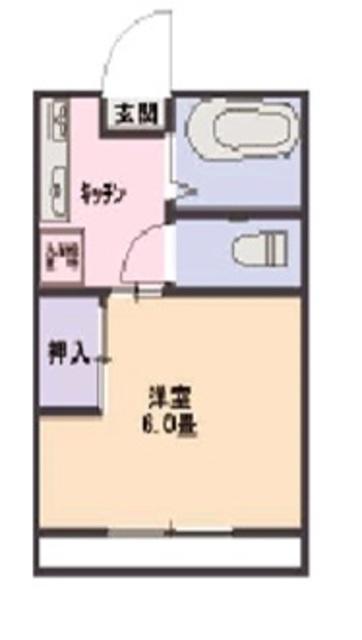 ハイツ吉川・106号室の間取り