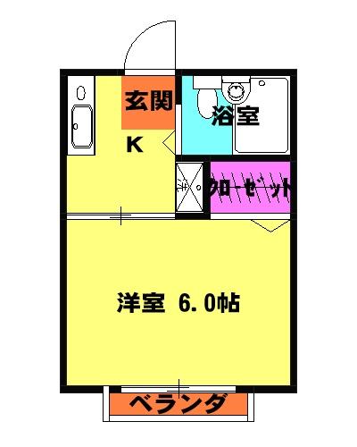 シティハイム本町・203号室の間取り