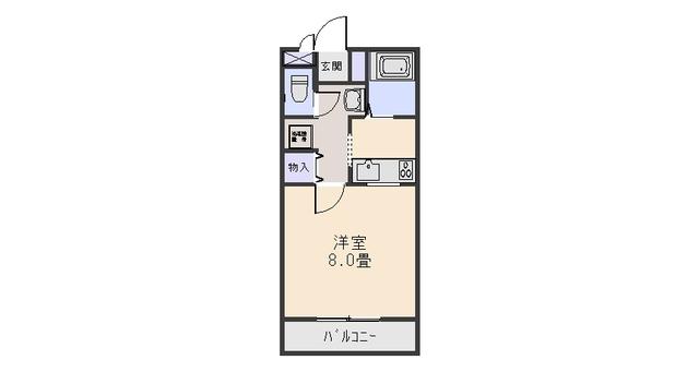 コンパートメントWクエストⅡ・1202号室の間取り