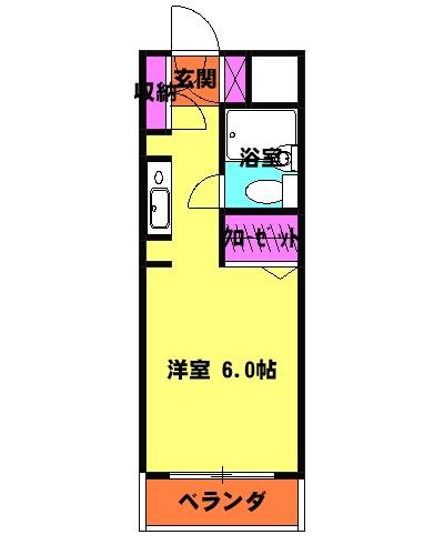 ウィンベルソロ熊谷第3 313号室の間取り