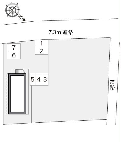 レオパレスPIPA 102号室の駐車場