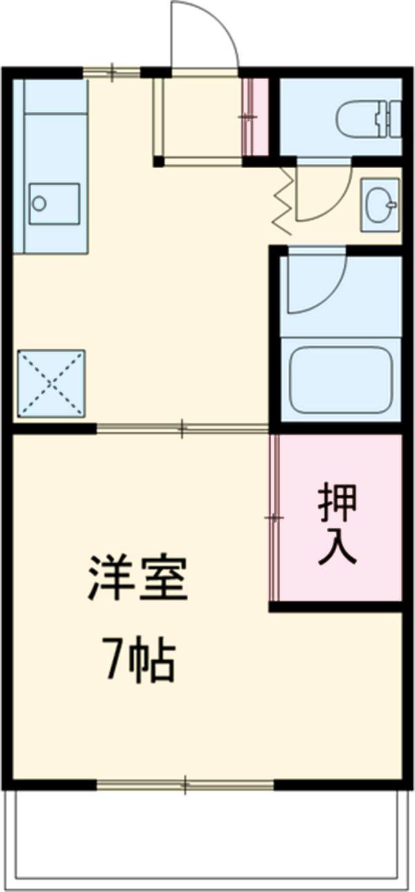 ミヤマコーポⅡ・102号室の間取り
