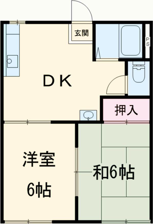 石川ハイツB 103号室の間取り
