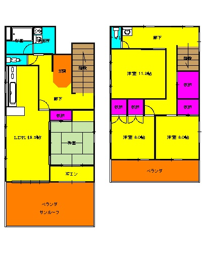 コーポTAKAHASHI 301号室の間取り