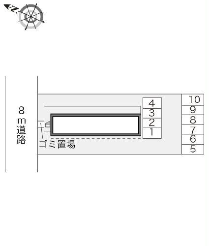 レオパレス志芸乃 203号室のトイレ