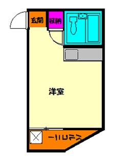 ベルハイム 402号室の間取り