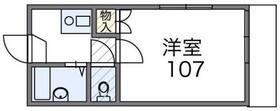 桐生レジデンス・107号室の間取り