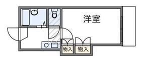 桐生レジデンス・206号室の間取り