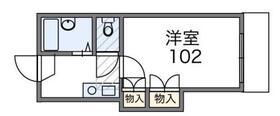 桐生レジデンス・102号室の間取り