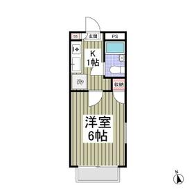 アリス太田第9・201号室の間取り