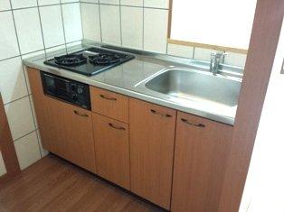 アルカディア 205号室のキッチン