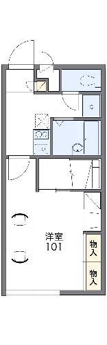 レオパレスサンシャインⅢ 203号室間取り図