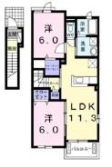 ポラリス・ハウス B・02010号室の間取り