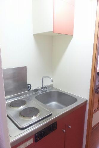 レオパレスリトル アイランド 201号室のキッチン