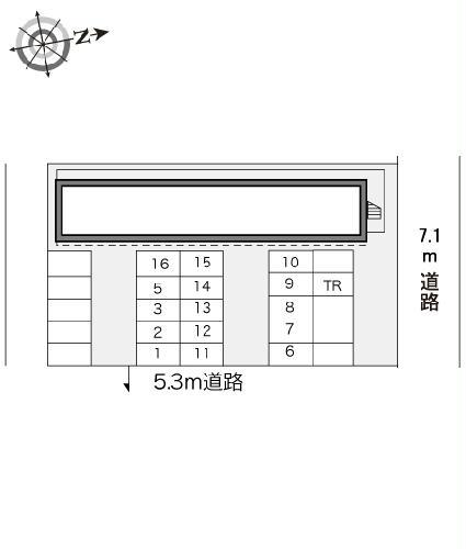 レオパレスエクセディオールⅡ 207号室の駐車場