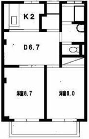K2-1ディアコート・303号室の間取り