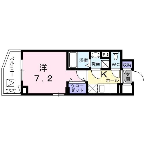 ビレッジ アップ 渋谷・04010号室の間取り
