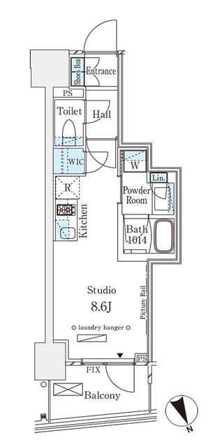 パークナードフィット南青山Vista・1303号室の間取り