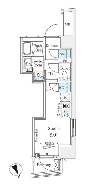 パークナードフィット南青山Vista・706号室の間取り