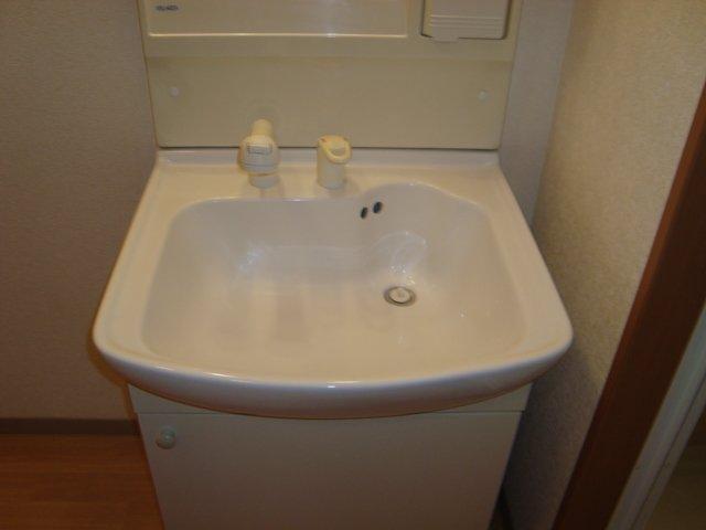 ファンファン 201号室の洗面所