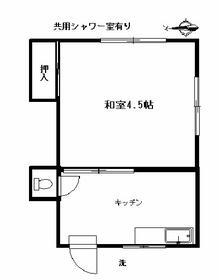 前田荘・102号室の間取り