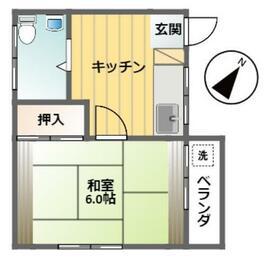 菅原マンション・201号室の間取り