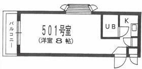 ユースフル笹塚・No.2 501号室の間取り