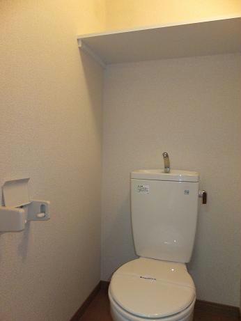 レオパレスレインボードロップス 201号室のトイレ