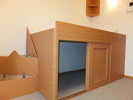 レオパレスレインボードロップス 201号室の収納