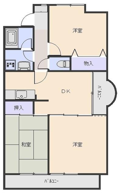 セントラルマンション・403号室の間取り