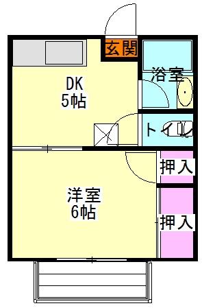 丸田マンション 2-3号室の間取り