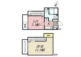 PASEO Sasazuka Ⅱ・0102号室の間取り