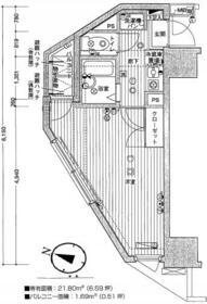 ガーラ笹塚駅前 506号室の間取り