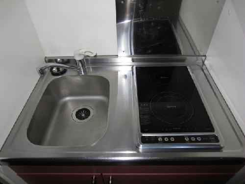 レオパレスアンソレイエ 恵 201号室のキッチン