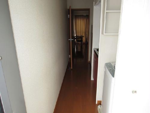 レオパレスアンソレイエ 恵 201号室の玄関