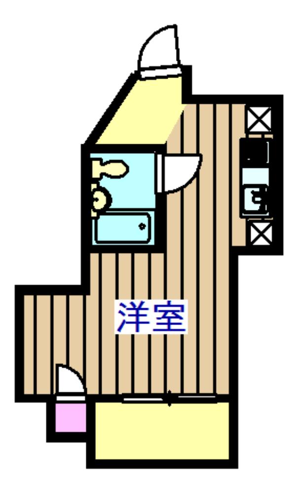 アロー船橋京成駅前ビル 501号室の間取り