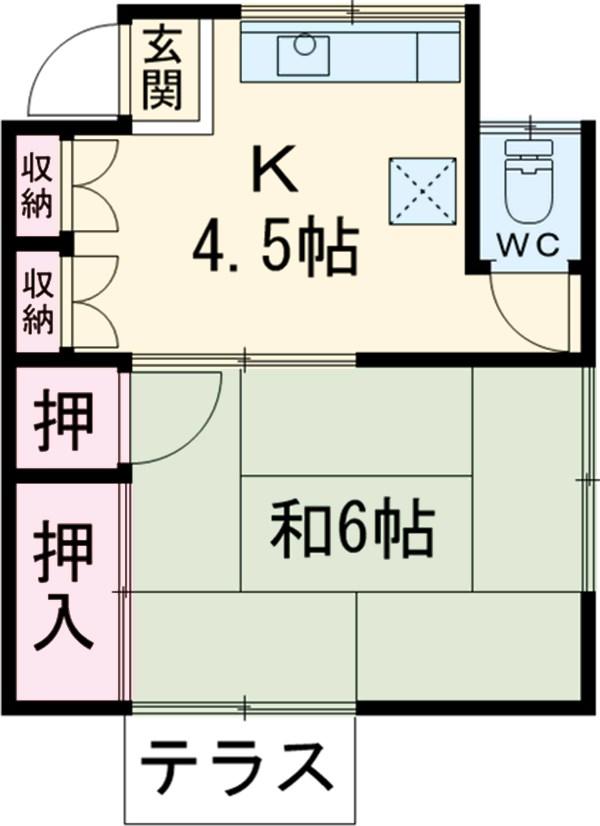 高橋アパート・1号室の間取り