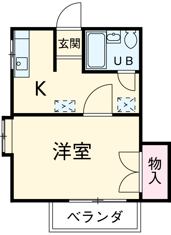 新美アパート 202号室の間取り